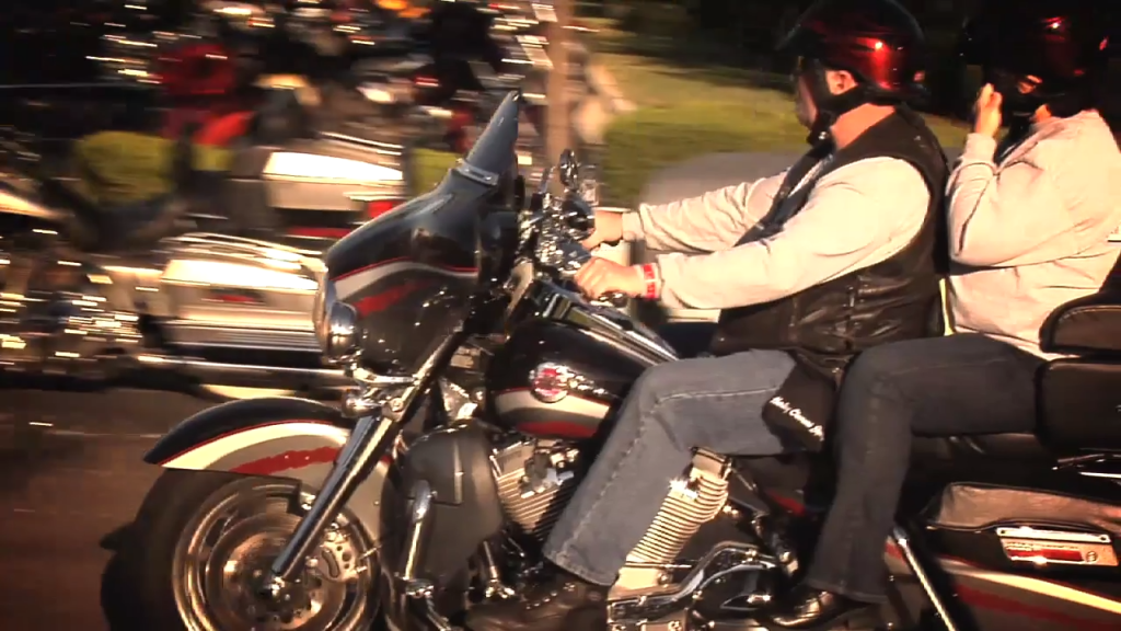 A couple enjoying the motorcycle ride. More everyday heroes riding to support our veterans.