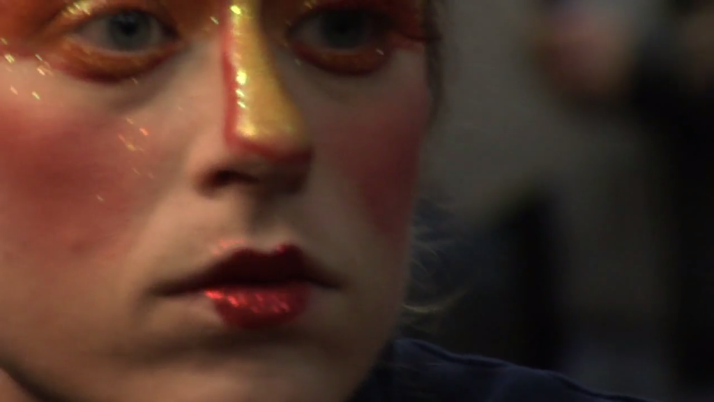 Makeup is a big part of the show for these everyday heroes. It helps tell the circus story.