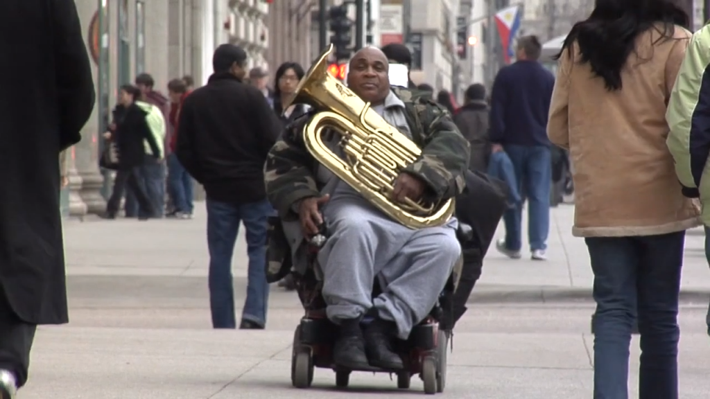 Aaron Dodd tuba player is an everyday hero spreading his jazz tuba inspiration.