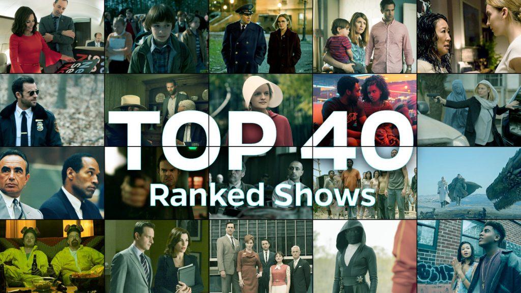 Top 40 ranked tv shows.
